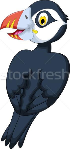 cute Atlantic Puffin cartoon Stock photo © jawa123