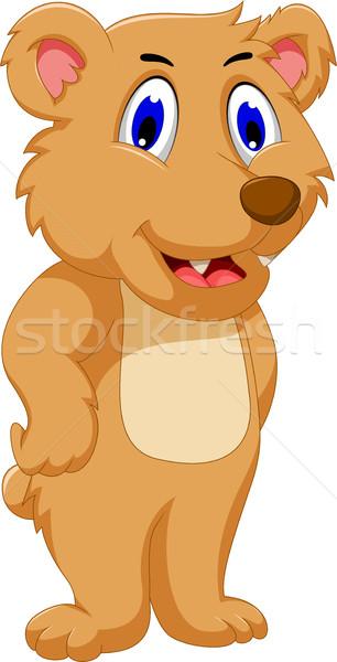 Cute несут Cartoon счастливым игрушку животного Сток-фото © jawa123