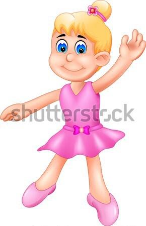 смешные девочку Cartoon играет балет девушки Сток-фото © jawa123