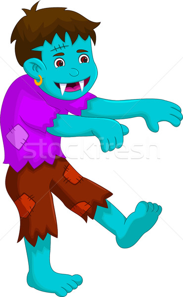 cartoon zombie walking for you design Stock photo © jawa123