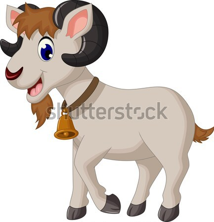 cute goat cartoon posing Stock photo © jawa123