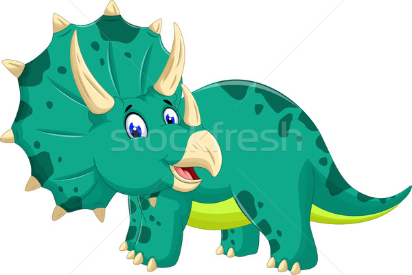 cute Triceratops cartoon posing Stock photo © jawa123
