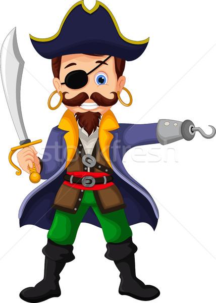 Cartoon pirate posing Stock photo © jawa123