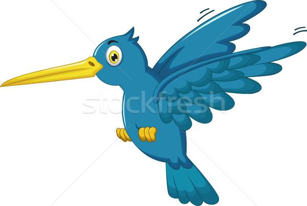 Cute зимородок Cartoon фон жизни тропические Сток-фото © jawa123