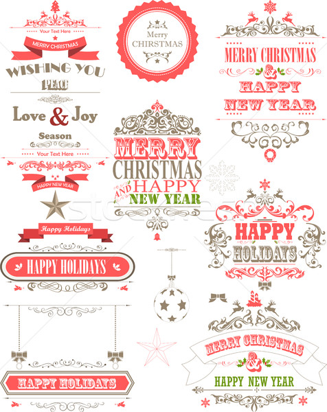 Ornamento decoración vacaciones textura fondo invierno Foto stock © jawa123