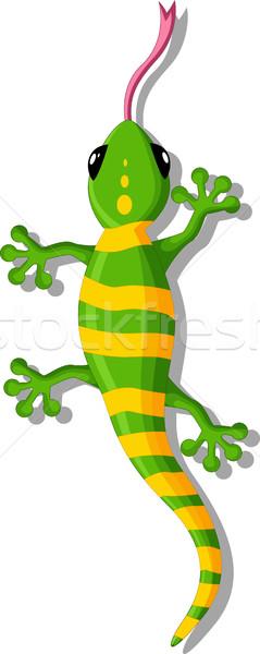 Zöld gekkó rajz terv fiatal öröm Stock fotó © jawa123