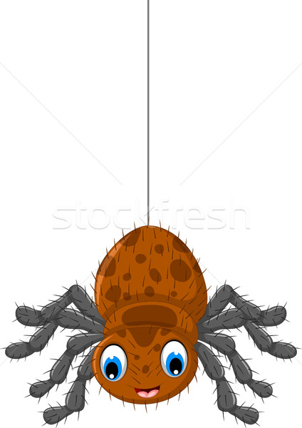 funny brown spider cartoon posing Stock photo © jawa123