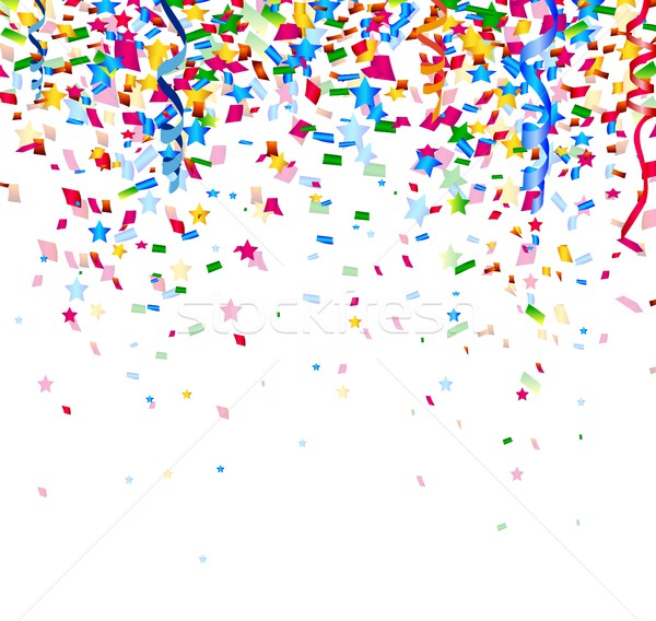 Colorato confetti bianco carta felice sfondo Foto d'archivio © jawa123