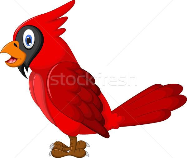 Cute Parrot Cartoon синий тропические белый Сток-фото © jawa123