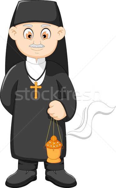 cartoon catholic priest Stock photo © jawa123