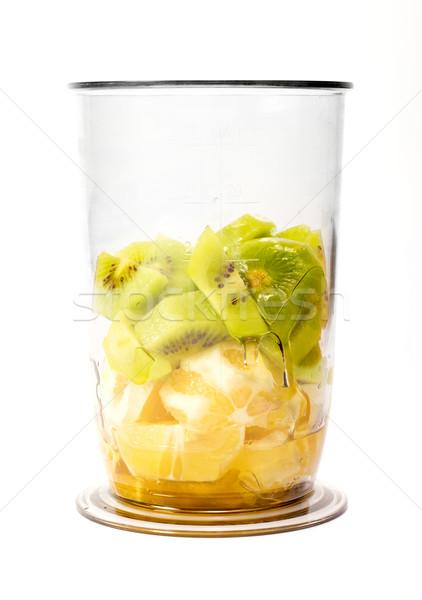 частей киви оранжевый пластиковых Кубок Сток-фото © jaycriss