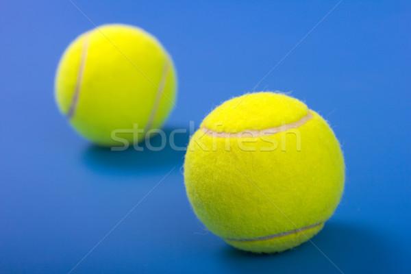 Deux tennis bleu sport balle Photo stock © jaycriss