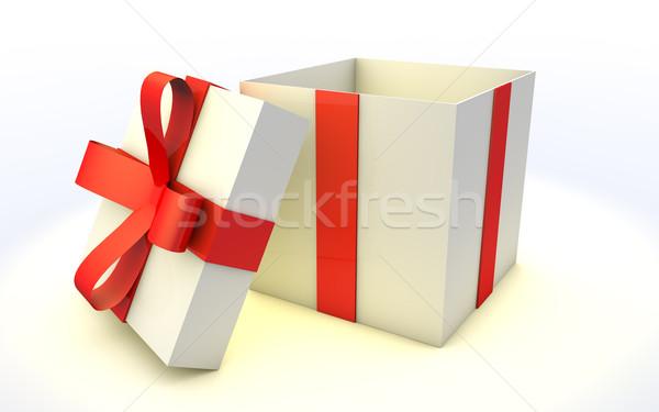 шкатулке белый торговых подарок Сток-фото © jaycriss
