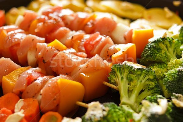 куриные овощей черный брокколи кухне Сток-фото © jaycriss