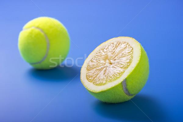 лимона теннис синий мяча игры Сток-фото © jaycriss