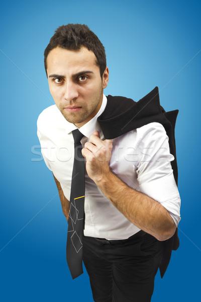 Portrait sérieux affaires manteau épaule Photo stock © jaycriss