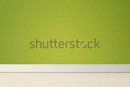 пустой комнате зеленый стены дома дизайна домой Сток-фото © jaycriss