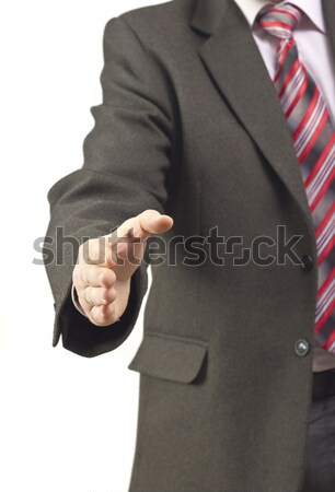 Business man with open hand Stock photo © jaycriss