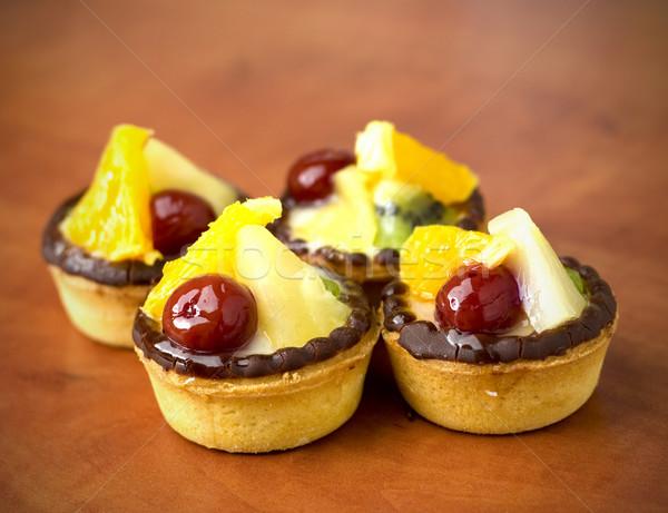 четыре фрукты десерта древесины Сток-фото © jaycriss