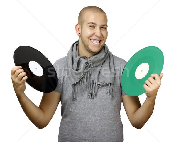 Homme musique amusement noir vintage Photo stock © jaycriss