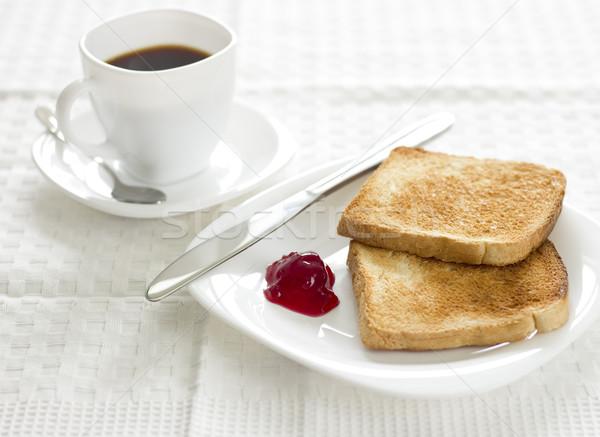 завтрак кофе блюд скатерть продовольствие Сток-фото © jaycriss
