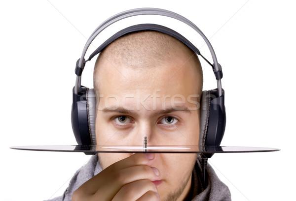 Deejay наушники виниловых голову диск Сток-фото © jaycriss
