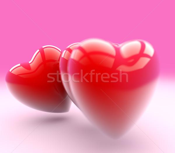 Amour carte de vœux trois coeurs belle Photo stock © jaycriss