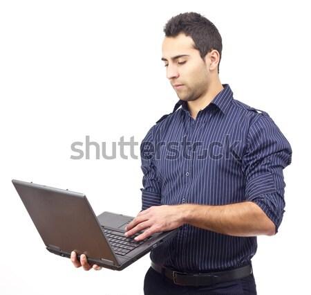 молодые деловой человек поиск веб интернет человека Сток-фото © jaycriss