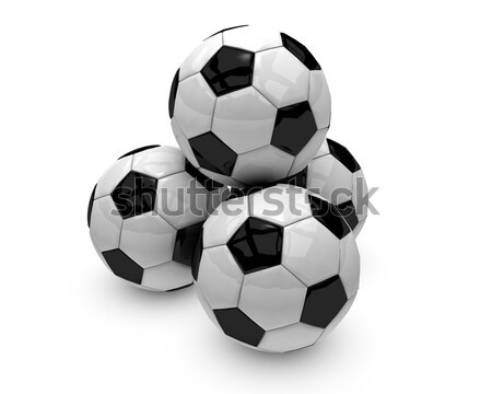 четыре Футбол группа черно белые 3d визуализации Сток-фото © jaycriss