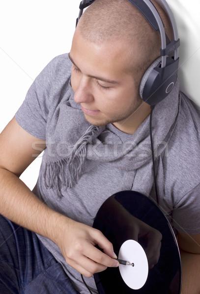 Deejay музыку наушники виниловых диск Сток-фото © jaycriss