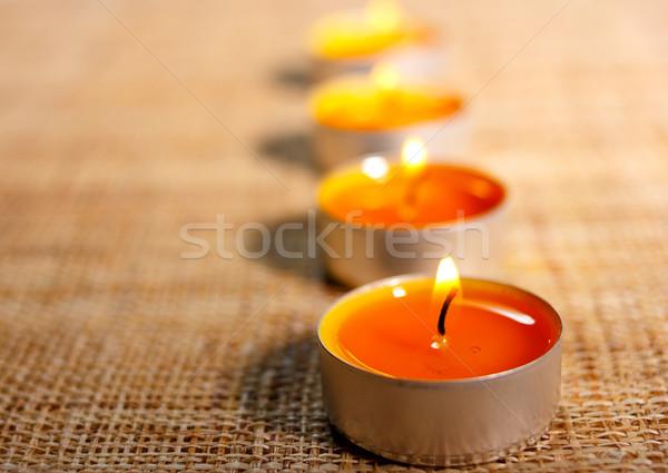 четыре сжигание оранжевый свечей материальных украшение Сток-фото © jaycriss