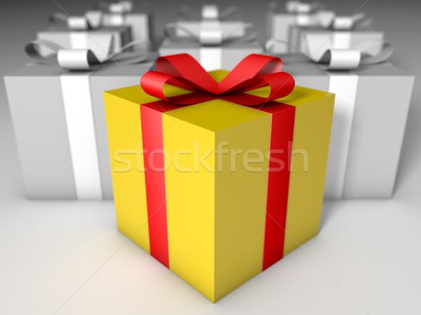 Parfait cadeau rouge jaune coffret cadeau séance Photo stock © jaycriss