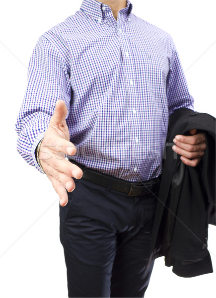 Business man with hand open for a handshake Stock photo © jaycriss