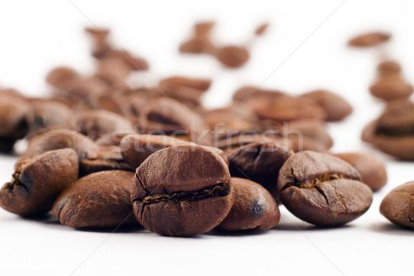 コーヒー豆 白 背景 新鮮な 豆 ストックフォト © jaykayl