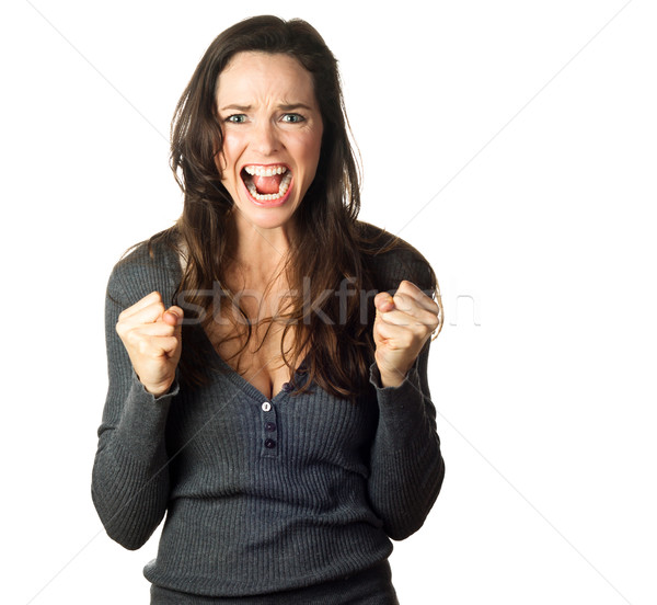 Angry, upset and frustrated woman Stock photo © jaykayl