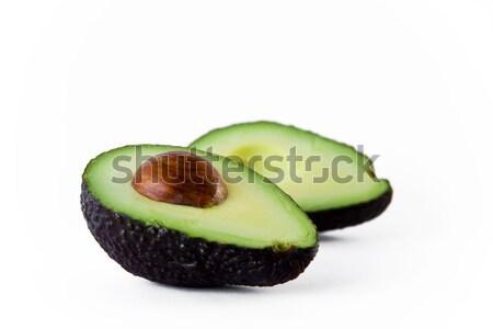 Abacate verde maduro cortar metade tropical Foto stock © jaykayl