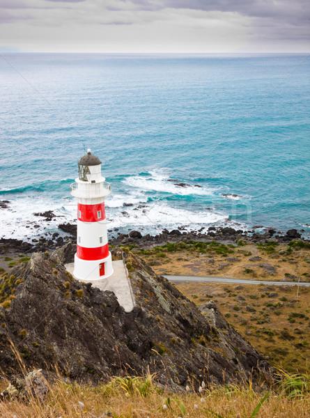 Маяк Новая Зеландия красивой север острове дома Сток-фото © jaykayl