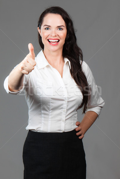 Szczęśliwy kobieta portret udany business woman Zdjęcia stock © jaykayl
