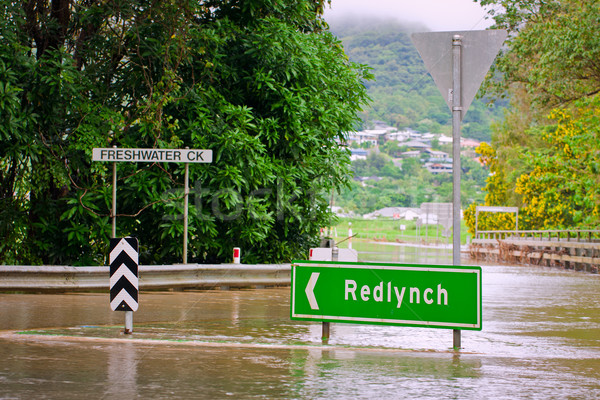 Flooded roundabout and bridge in Queensland, Australia Stock photo © jaykayl