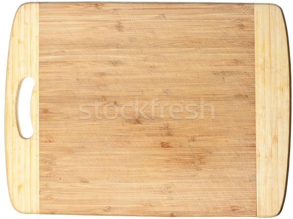 Isolato legno tagliere usato sfondo Foto d'archivio © jaykayl