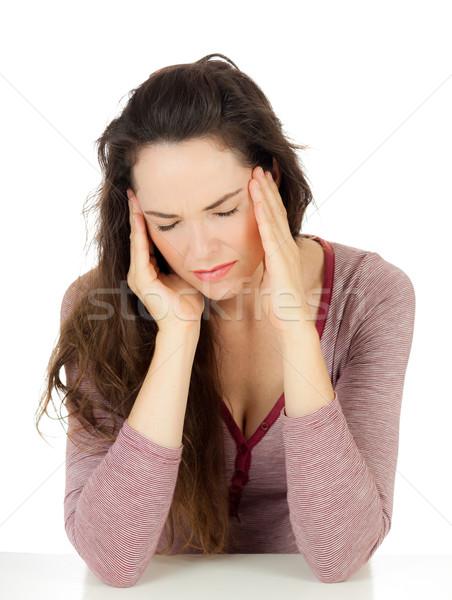 привлекательный мигрень страдание плохо голову Сток-фото © jaykayl