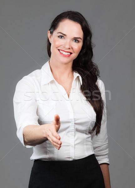 Femme d'affaires tenir sur main réussi serrer la main Photo stock © jaykayl
