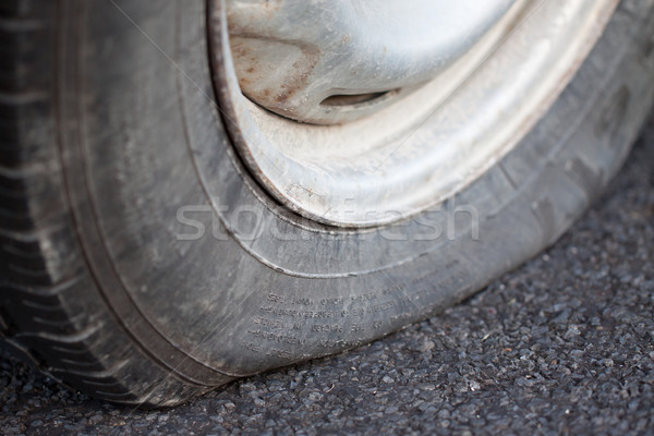 Closeup of a flat tire Stock photo © jaykayl