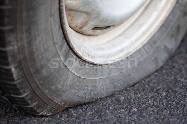 Pneu coup voiture rue Auto Photo stock © jaykayl