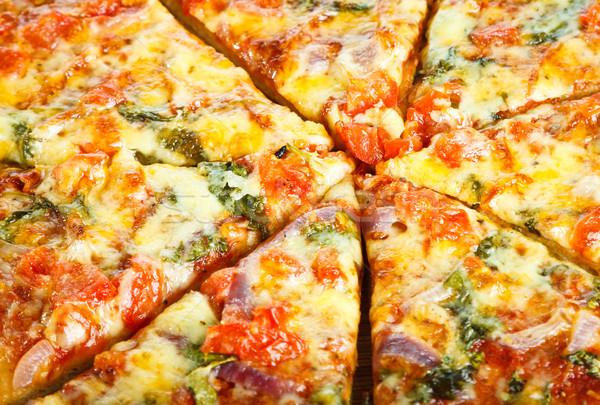 Caseiro pizza delicioso restaurante tabela Foto stock © jaykayl
