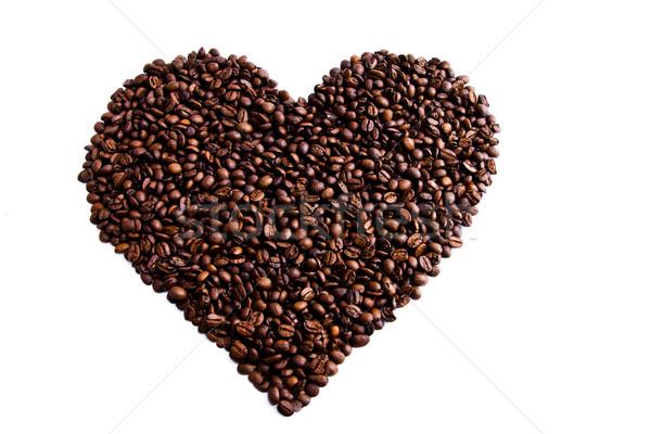 кофе любви сердце темно кофе Сток-фото © jaykayl