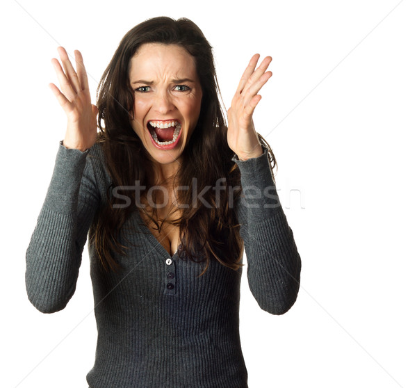 Very frustrated and angry woman Stock photo © jaykayl