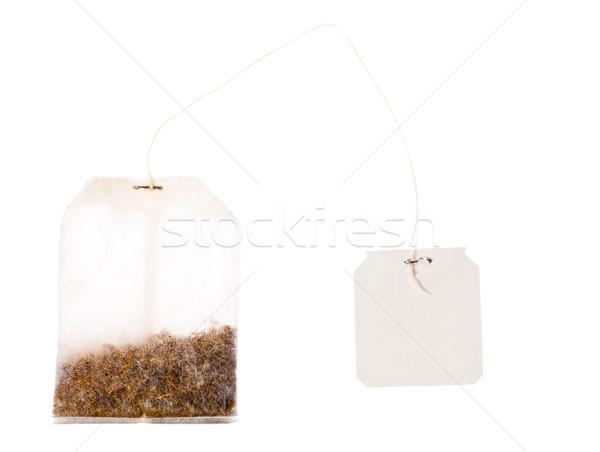 Tè bag string isolato bianco Foto d'archivio © jaykayl
