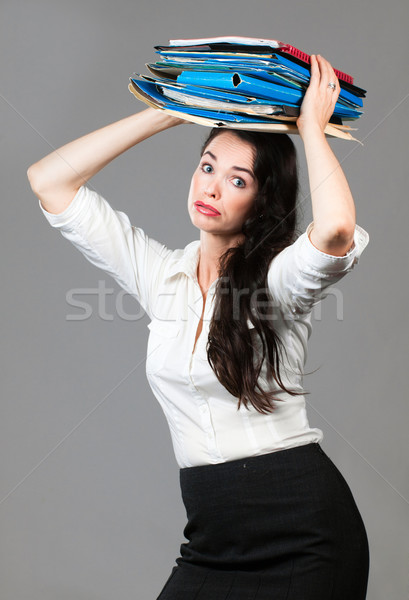 Overworked business woman Stock photo © jaykayl