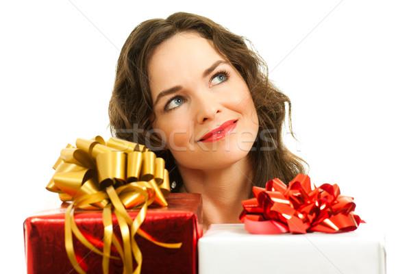 красивой Рождества представляет изолированный Сток-фото © jaykayl